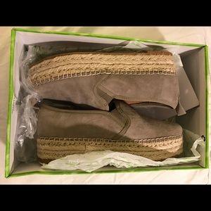 Sam Edelman Carrin Putty Suede Espadrille Sneakers